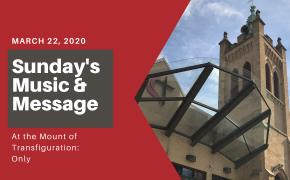 Online Worship Sunday, March 22, 2020