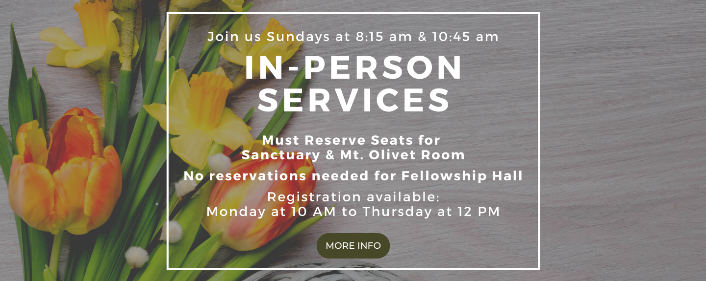 In Person Worship Registrations